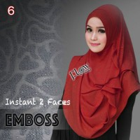 Jilbab Flow Instan Two Faces Emboss Ori | AA482