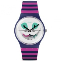 SWATCH SUOW125 CAT ME UP-JAM TANGAN WANITA-PINK