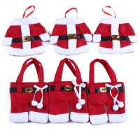 [globalbuy] Mini Santa Clothes Style Tableware Bags Suit Knife Fork Holders Silverware Bag/3177841
