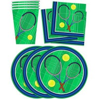 [poledit] Birthday Galore Tennis Birthday Party Supplies Set Plates Napkins Cups Tableware/13553603