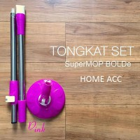 Tongkat Set Super Mop Bolde Original ( Handle + Head)