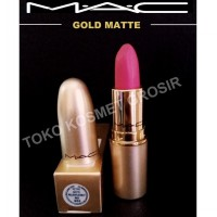 Mac Lipstick Gold Edition Relentlessly Red Retro Matte