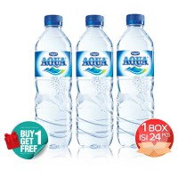 [1+1] Aqua 600 ML Bottle Carton Isi 24 Pcs