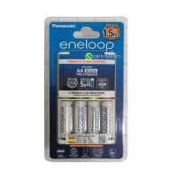 Panasonic Eneloop 1.5Hrs Smart Charger + 4AA 1900mAh Rechargeable Batteries