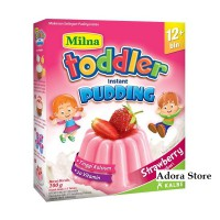 Milna Toddler Puding Instant 12+ - Strawberry (3 Pcs)