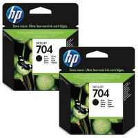[Paket Hemat] 2Pcs Tinta HP 704 Black Ink Cartridge Original