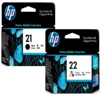 [Paket Hemat] Tinta HP 21 Black + 22 Tri-color Original