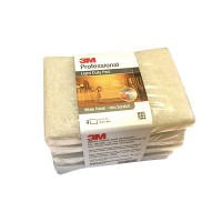 3M Professional Light Duty Pad White Polish - 13cm X 9cm (4 pads / bundle) - Sabut Tidak Menggores