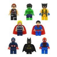 Brick Box Superhero Model Avengers