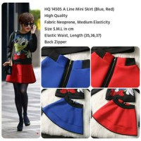 A Line Mini Skirt (RED,BLUE,size S,M,L)-14505