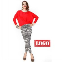 Logo Jeans - Mig Red Long Sleeves Tee comfort material, soft viscose spandex fabric, loose fitted, batwing