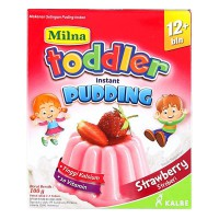 Milna Toddler Puding Instant 12+ - Strawberry isi 3