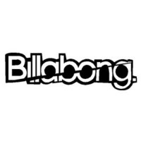 [poledit] Sticker Kings Billabong Word Logo Vinyl Sticker Decal-White-24 Inch/13048495