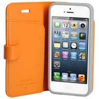 Capdase Apple iPhone 5s / 5 Case, Folder Case Sider Polka (Orange)
