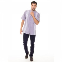 CONTEMPO MEN SHIRT S/S GREY B1116E04-C25