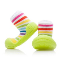 Attipas Baby Shoes Rainbow Green