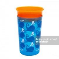 Munchkin Deco Miracle 360 Sippy Cup 266ml - Blue Whale