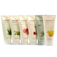 [6 Variant] Face Shop 365 Herb Day Cleaansing Foam 170g