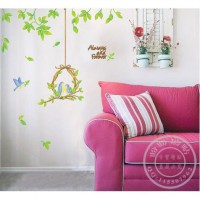 Wall sticker Couple Birds 90 x 60 cm