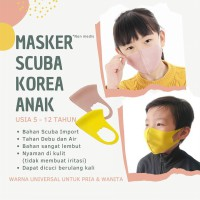 Masker Scuba Anak Asli Korea dengan DURABLE WATER REPELLENT