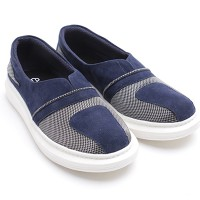 Dr.Kevin Ladies Slip-On Shoes 43168 Navy