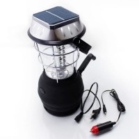 Innovative Product - Solar Lanter By Solar Power With 36 LED Light - Black