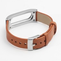 Leather Strap Option for Xiaomi Mi Band (OEM) - Brown
