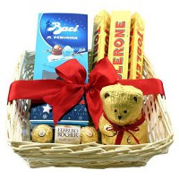 [poledit] Gift Universe Gift Basket with Baci Perugina Milk Chocolate, Ferrero Rocher Fine/14703605