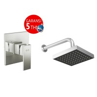 Bundling Kran Tanam Shower Tembok Panas Dingin AER SSV 01 + Wall Shower WS-11