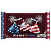 [poledit] HERSHEY`S Hersheys Milk Chocolate Kisses 4th of July Red-White and Blue Bag - 11/14703461