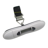 Timbangan Gantung Digital | Luggage Electronic Handheld Scale with Strap and LCD Display - White