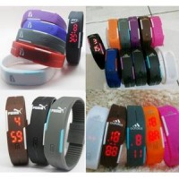 Jam Tangan Gelang LED Adidas Nike Puma Sporty Digital Rubber Watch Gym