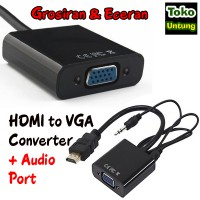 Kabel Hdmi To Vga + Audio Port