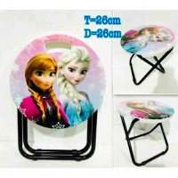 Delima Kursi Lipat Anak / Foldable Mini Chair Frozen dan Hotwheel