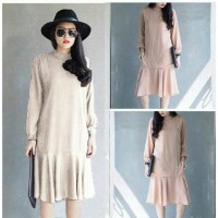 PAKET 6 PCS | TENABANG OFFICIAL | Dress Meisya Cream- Rayon Bangkok | Fit-L-XL | SW00110W | PAKAIAN WANITA TERBARU