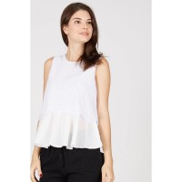 PR Sleeveless Top Beauty Lace White
