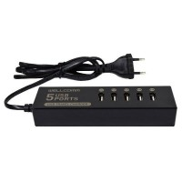 Wellcomm 5 Ports USB Charger 7 A - Black