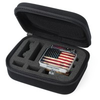 [V-TECH] Shock Proof Storage Case Small Size For GoPro / Xiaomi Yi / Headphone / Gadgets - Black