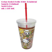 Gelas Sedot Hello Kitty Tokidoki 450 mL Sanrio Original BPA FREE