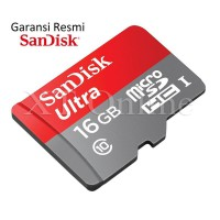 SanDisk Ultra microSDHC Memory Card UHS-I Class 10 16GB 80MB/s + Adapter