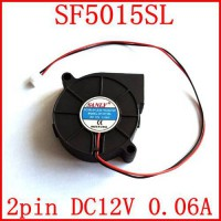 [globalbuy] Free Shipping SANLY SF5015SL 2PIN 12V 0.06A 50X50X15mm quiet fan server coolin/2528930