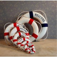 [globalbuy] New Hot Elegant Mediterranean Foam Home Decor Nautical Decorative Lifebuoy Lif/3200778