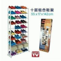 Rak sepatu 10 tingkat Amazing Shoe Rack As seen on TV