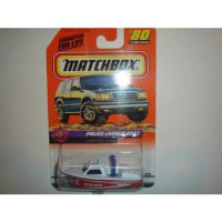 [poledit] Matchbox 1999-80/100 Series 16 Fire Rescue RED/WHT. Police Launch Boat 1:64 Scal/13532776