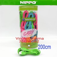 kabel data /KABEL CHARGER hippo CABY Micro usb/Android ,blackberry,powerbank -200cm