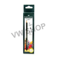 Faber Castell Faber-Castell Pensil 2B Pencil Castell 9000 - 12 PCS (Black)