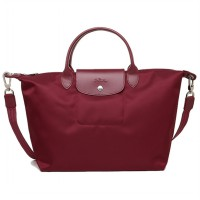 Longchamp 002 Le Pliage Neo Medium Tote Maroon