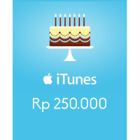 Itunes Gift Card Indonesia 250rb / IGC INDO 250K