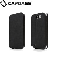 Capdase Samsung Galaxy Note 2 Case, Folder Case Sider Tara (Black/Grey)