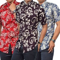 KEMEJA BATIK PENDEK KASUAL SLIM FIT HIGH QUALITY